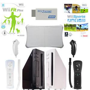 Nintendo Wii Konsole Balance Board Wii Fit Wii Sports 2x Remote Nunchuck HDMI