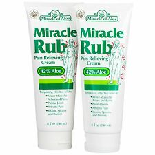 Miracle Rub Pain Relieving Cream 4 ounce tube, 2-Pack with 42% UltraAloe
