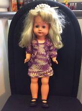 "Vintage Doll 18"" Tall Blonde Hair & Blue Eyes Open/Close Eyes W/ Rare Hero HeRo"