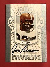 Certified Authentic Jim Brown Autograph 2018 Leaf