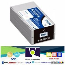 Genuine Epson SJIC22P (K) Black Pigment Ink Cartridge for TM-C3500 C33S020577