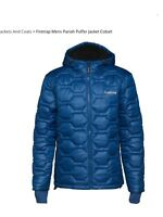 New Mens Padded Puffer Firetrap Jacket Hooded In Royal Blue & Black RRP £99.99