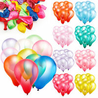 """10"""" Latex Pearlised Quality Party Birthday Wedding Balloons Lots of 100"""