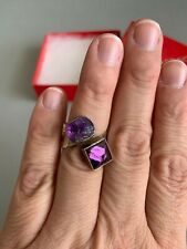 LILLY BARRACK Beautiful Sterling Silver AMETHYST Ring Adjustable