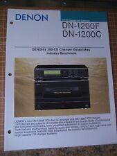 Denon DN-1200F & DN-1200C Original Brochure