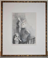 Listed French Artist Marie Laurencin Original Signed Color Lithograph