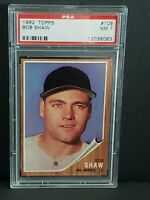 1962 Topps Bob Shaw #109 NM PSA 7 Milwaukee Braves