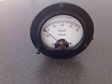 Voltmeter rendimiento cuchillo 100 V instalación instrumento Simpson Model 55 como nuevo