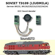 SZD TЭ109 Soviet diesel BR232 BR 130 SoundGT2 DCC decoder for Roco, Piko, Brawa