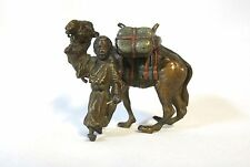 Orientalist Vienna bronze cold painted man and his camel (#942)