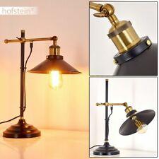 Wohn Schlaf Raum industrial Vintage Nacht Tisch Leuchte Lampe schwarz/gold Retro