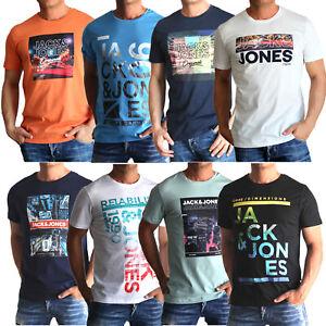 Jack and Jones Herren T-Shirt mit Aufdruck 3er oder 6er Mix Set Rundhals SALE