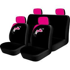 8pc Rosa Corazones Girly Girl cover set completo de asiento de coche Universal cubre Lavable