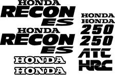 Honda Recon ES Decal Kit Gas Tank CUSTOM COLORS AVAILABLE moto hrc recon 250