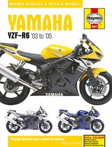 2003-2005 Yamaha YZF R6 HAYNES SERVICE & REPAIR MANUAL 4601
