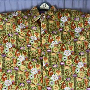 Shag Disneyland Trader Sam's Enchanted Tiki Bar Hawaiian Shirt 2XL New With Tag