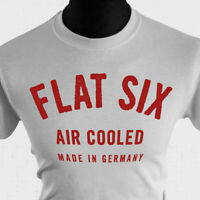 Flat Six T Shirt Porsche Vintage Air Cooled 911 930 964 993 Turbo Carrera W/Red