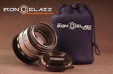 Helios 44-2 2/58mms silver anamorphic flare lens FULL FRAME for Canon EOS EF