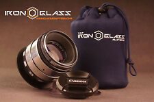 Helios 44-2 2/58 MMS Silver Anamorphic Flare Lens Full Frame For Canon EOS EF