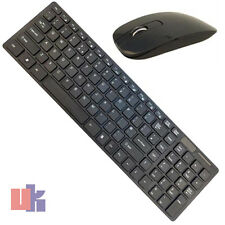 2.4Ghz USB Slim Wireless Cordless PC Laptop Keyboard & Optical Mouse Cambo Black