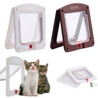 Pet door 4 way Lockable Small Medium Large Cat Puppy Flap Magnetic Door Frame