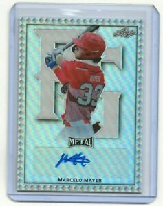 2020 MARCELO MAYER LEAF PERFECT GAME CLASSIC AUTO ROOKIE SILVER REFRACTOR SP NEW