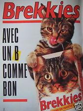 PUBLICITÉ 1987 BREKKIES AVEC UN B COMME BON - CHAT - ADVERTISING