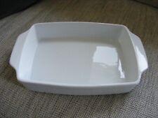 White Rectangular 2 Handled Lasagne Casserole Roasting Dish - New