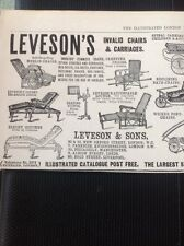 A3-5 Ephemera 1900 Advert Leveson's Invalid Chairs & Carriages Prams Carts