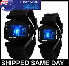 AIRPLANE MENS LED DIGITAL WATCH Army Military Dress Fashion Water Resistant 13