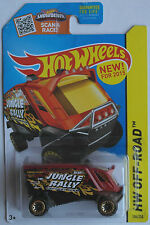 "HOT Wheels-Aero POD rosse-marroni/NERO ""Jungle RALLY"" Nuovo/Scatola Originale US-CARD"