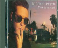 Michael Patto - Time To Be Right Cd Ottimo Spedito 48H