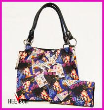 Bettie Page Women's Handbag & Wallet Set Girl Fashion Designer Shoulder Bag