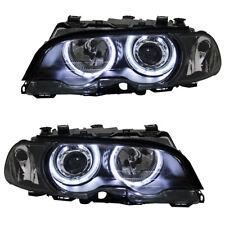 Scheinwerfer LED Angel Eyes für 3er BMW E46 Coupe Cabrio Bj. 99-03 Schwarz