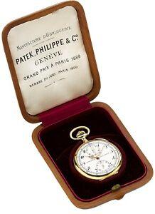 Patek 18K Gold Chronograph With Register Pocket Watch