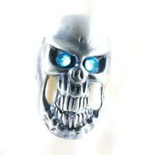 RING ghost SKULL monster pirate silver argent gray solid ONE SIZE LARGE