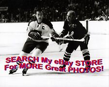 """Jean BELIVEAU Gets HOOKED by Bobby Hull """"The GOLDEN Jet"""" Custom 8X10 NEW Item !!"""