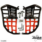 Yamaha YFZ 450 Nerf Bars Pro Peg heel guard Alba Racing Black Red 199 T7 BR