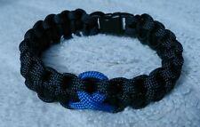 Thin Blue Line Ribbon Police Roll of Honour Trust inspired paracord 550 bracelet