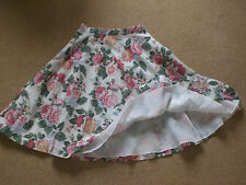 Floral cotton Rock and Roll skirt Handmade  Fully lined  50's style unique