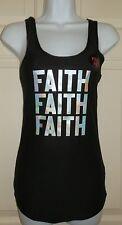 New Juniors size 2XL 19 FAITH FAITH FAITH tank top Soft Material Black