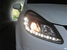 Scheinwerfer Opel Corsa D LED Tagfahrlicht Optik schwarz .Bj.06-11