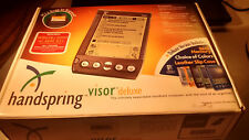 Handspring Visor Deluxe PDA Palm Pilot with Cover Pen Stylus Graphite