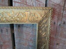 Antique Wall FRAME ORNATE Barbola flowers leaves Gesso Details