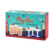 Pong guerras Beber Fiesta Juego-hablando TABLAS presecco Pong vs. Beer Pong