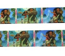 "By The Yard 1"" Disney Moana & Maui Grosgrain Ribbon Hair Bows Lanyards Lisa"