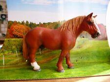 Schleich Pferd Percheron Hengst repainted Fuchs