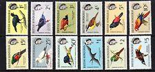 "British Honduras, QE II, Set of 12. ""Island Birds""  Issued 1962.  SG. 202 - 213"