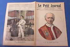 Le petit journal 1891 38 Pape léon XIII + le mousse