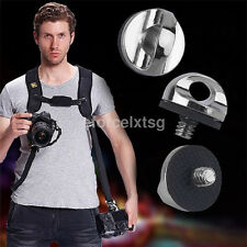 Hot 1/4 inch Screw For DSLR SLR Camera Strap Tripod Quick Release Plate Mount
